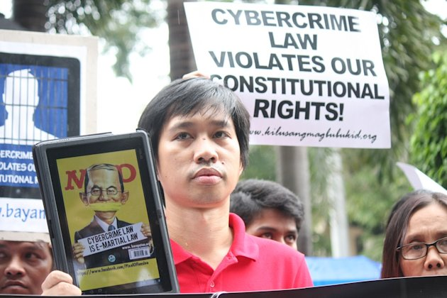 Pinoys protest vs. Cybercrime Law