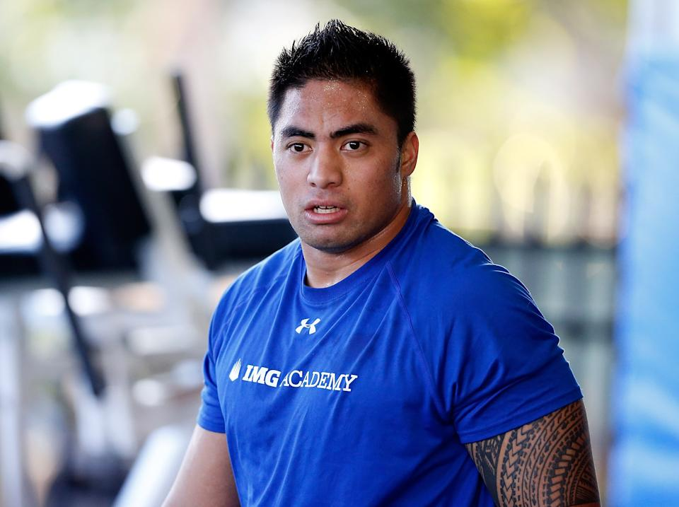 Manti Te'o Workout at IMG Academy