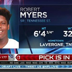 Baltimore Ravens pick guard Robert Myers No. 176 in 2015 NFL Draft