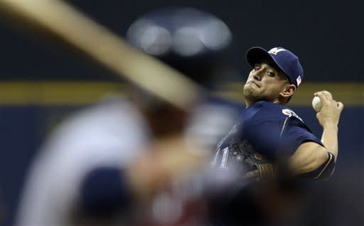 Estrada sharp into 7th, Brewers beat Braves 5-0