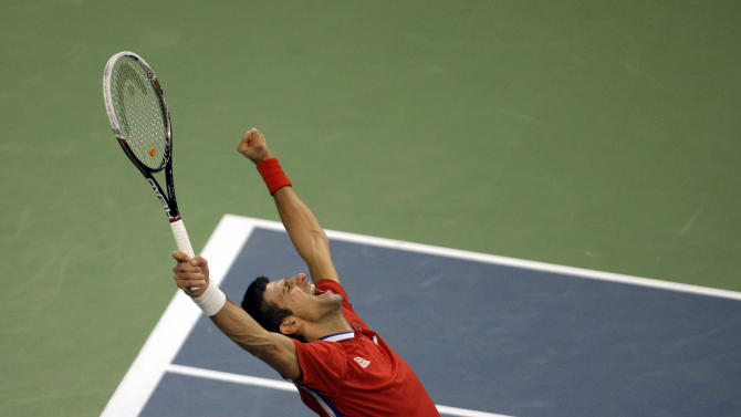 Djokovic tops Berdych, ties Davis Cup final at 2-2
