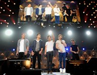One Direction perform at Z100&#39;s Jingle Ball 2012 presented by Aeropostale at Madison Square Garden on Friday Dec. 7, 2012 in New York. (Photo by Evan Agostini/Invision/AP)