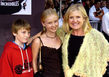 Nancy Cartwright and kids at the Hollywood premiere of Disney and Pixar's The Incredibles