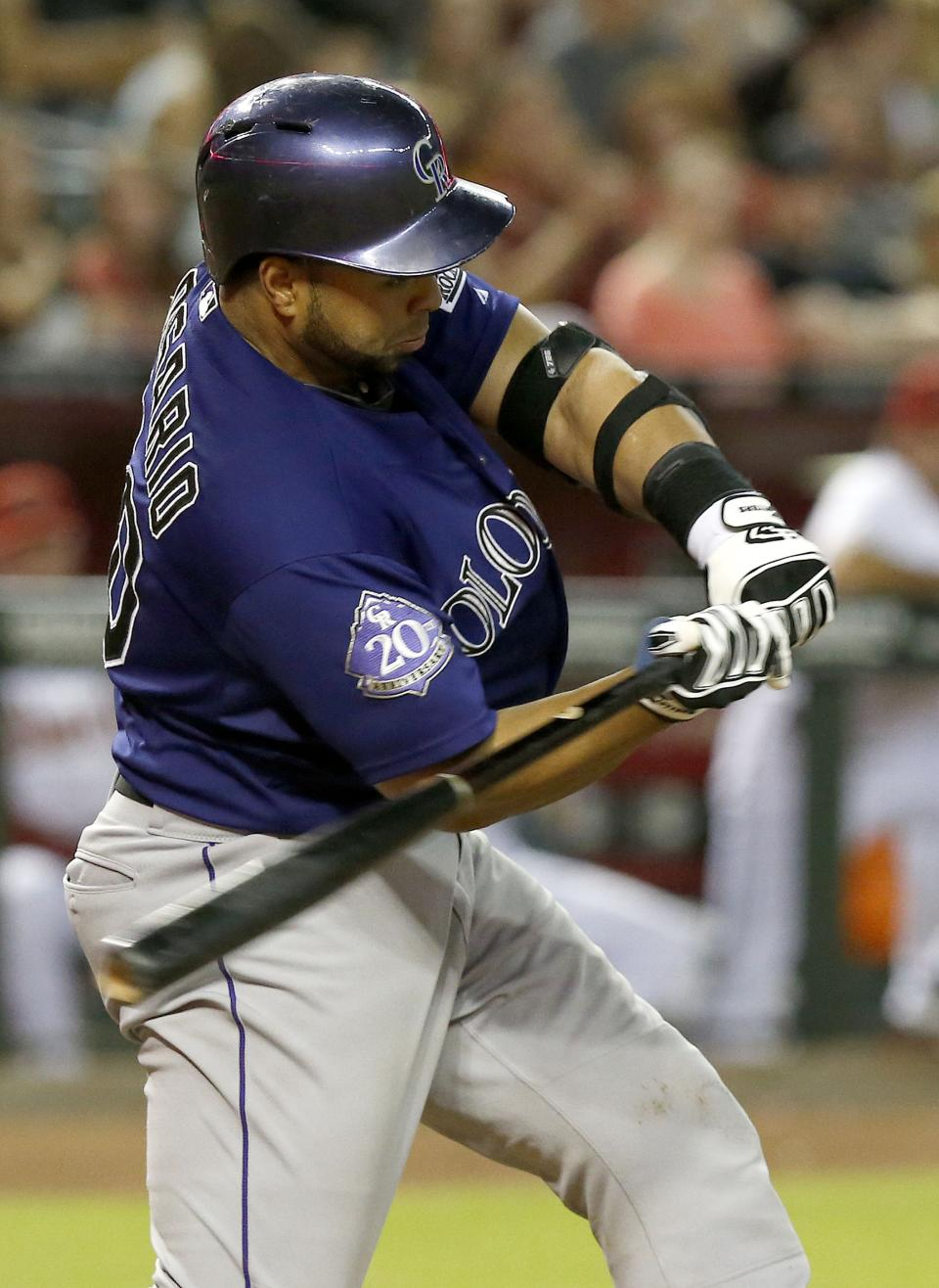 Dickerson hits trick-shot double, Rox top Dbacks