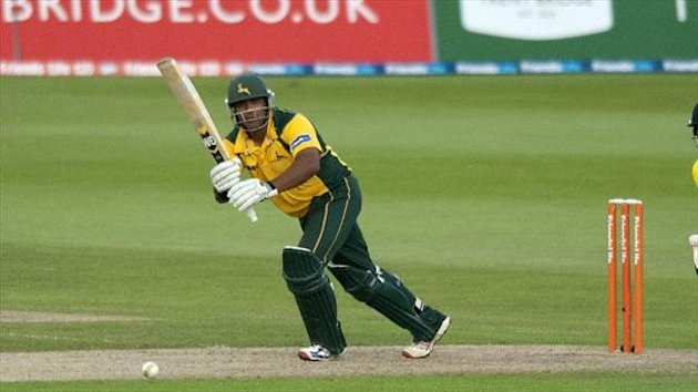 Samit Patel struck 16 boundaries in an unbeaten knock of 129