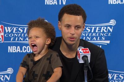 There should be adorable kids at every NBA press conference