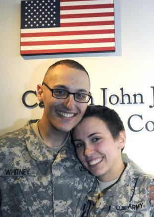 Sean Whitney and Caitlin Murray tied the knot on Jan. 3 at the Albany International Airport (Michael P. Farrell/Times Union)