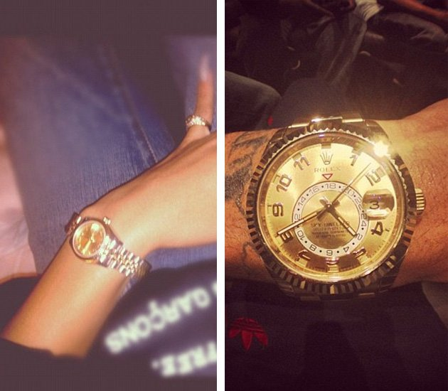 Rihanna/Chris Brown matching watches