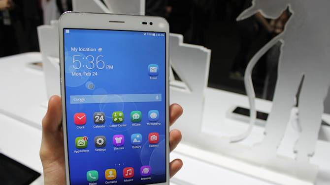 Huawei MediaPad X1 Tablet is Thinner and Lighter than iPad Mini