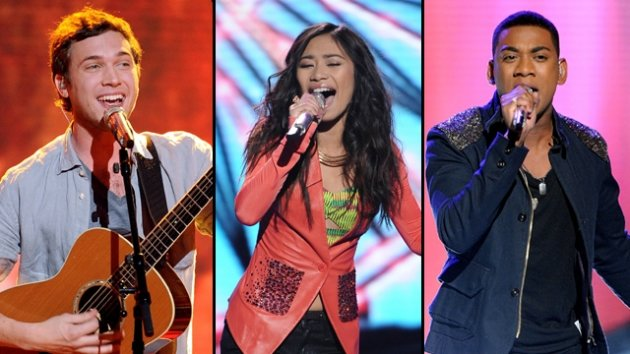 Phillip Phillips, Jessica Sanchez and Joshua Ledet -- FOX