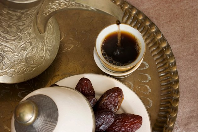 Arabic coffee and dates