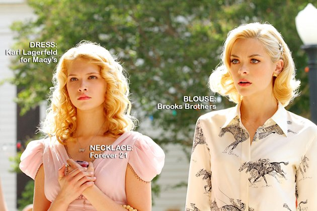 "Claudia Lee as Magnolia Breeland and Jaime King as Lemon Breeland in the Season 1 episode ""Hairdos and Holidays."" Hart of Dixie"