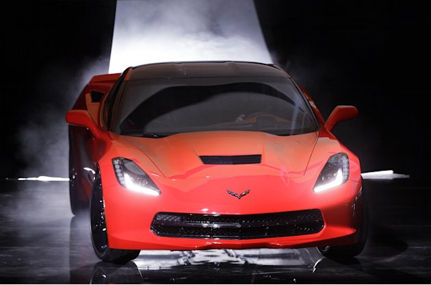 The 2014 Chevrolet Corvette Stingray debuts in Detroit, Sunday, Jan. 13, 2013. The C7 Corvette debuted before the start of the media previews at the North American International Auto Show. (AP Photo/P