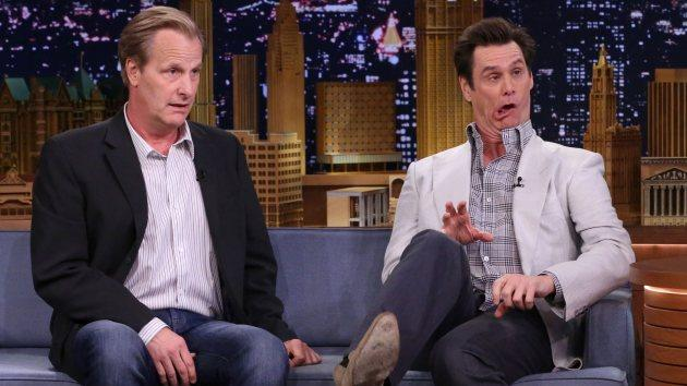 Jeff Daniels and Jim Carrey on June 10, 2014 -- NBC