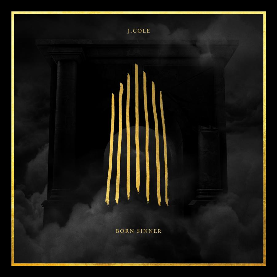 "This CD cover image released by Columbia Records shows ""Born Sinner,"" by J. Cole. (AP Photo/Columbia Records)"