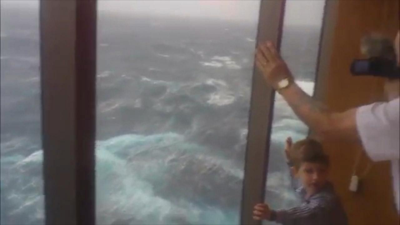 Watch Cruise Ship Forced to Ride Out Wild Storm at Sea