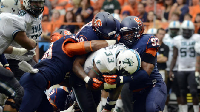 Hunt leads Syracuse to 52-17 win over Tulane