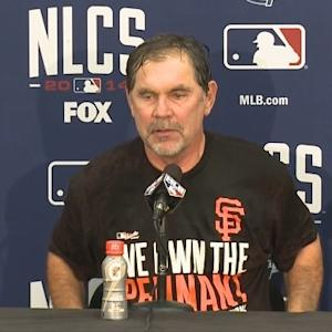 Raw Video: Giants Manager Bruce Bochy After Winning NL Pennant