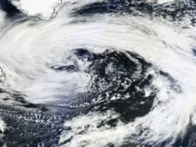 Giant Storm Visible On Satellite Image