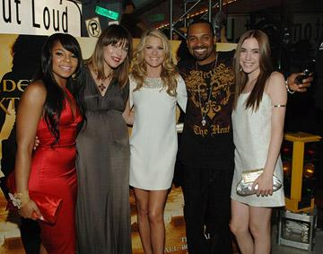 Ashanti , Milla Jovovich , Ali Larter , Mike Epps and Spencer Locke at the Planet Hollywood Las Vegas premiere of Screen Gem's Resident Evil: Extinction