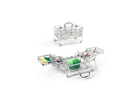 Container Store Clear Case with Expanding Trays, $49, containerstore.com