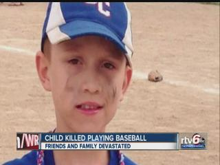 Eastern Indiana boy dies after hit by baseball