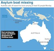 Australia has called off a major air-and-sea search for survivors from a boat carrying at least 55 asylum-seekers which disappeared suddenly off a remote Indian Ocean territory