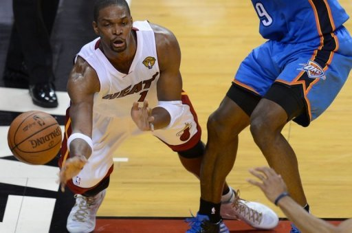 Miami forward Chris Bosh is pictured June 21