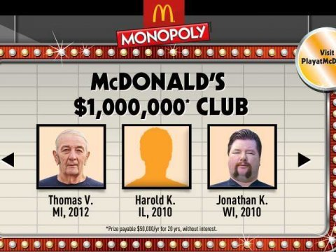 mcDonalds winners