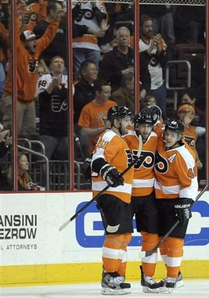 Flyers top Sabres 3-2 to end 3-game losing streak