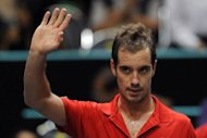 Richard Gasquet of France celebrates after winning against Jarkko Nieminen of Finland during their semi-final match at Thailand Open tennis tournament on September 29. Gasquet snapped a title drought stretching back two-and-a-half years as he beat Gilles Simon 6-2, 6-1 in an all-French final