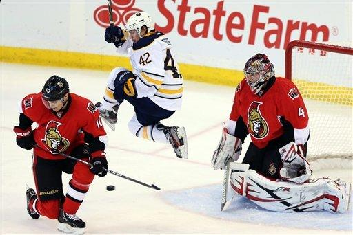 Anderson leads Senators to 2-0 win against Sabres