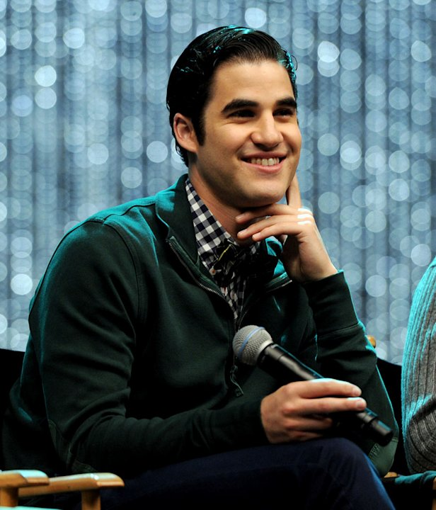 "Darren Criss appears at the ""GLEE"" 300th musical performance special taping at Paramount Studios on October 26, 2011 in Los Angeles, California."