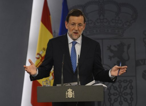 <p>Spanish Prime Minister Mariano Rajoy, seen here in August 2012, said he believed the eurozone could introduce eurobonds within a few years</p>