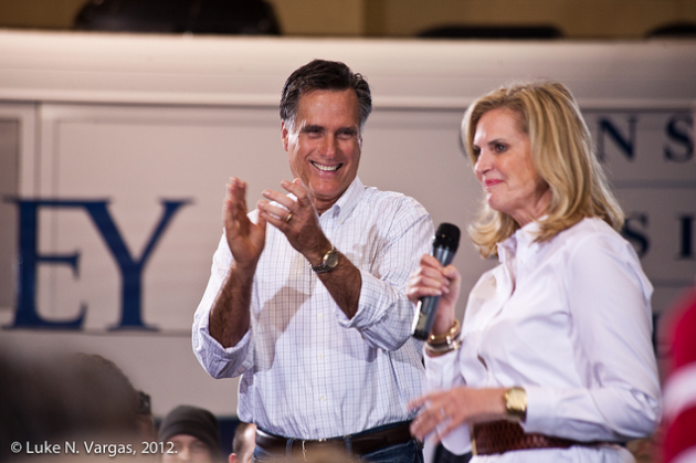 Mitt and Ann Romney.