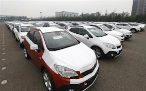 Cars made by GM Korea are seen in a yard of GM Korea's Bupyeong plant in Incheon