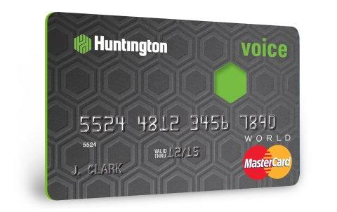 Voice™, New Huntington Credit Card, Offers Unique Customer Rewards Choices