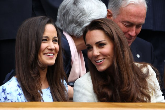 Kate Middleton and Pippa Middleton at Wimbledon