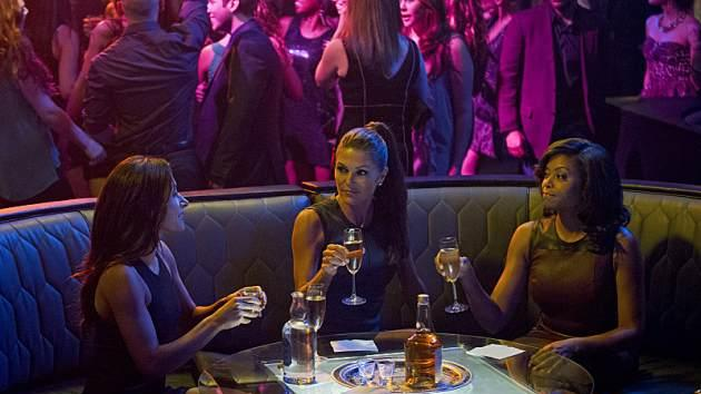 Reese and Finch enlist the help of Carter (Taraji P. Henson, right), Shaw (Sarah Shahi, left) and Zoe Morgan (Paige Turco, center), who use their feminine wiles to bait a chameleon playboy who is either a predator or someone else's imminent prey in 'Person of Interest' -- CBS
