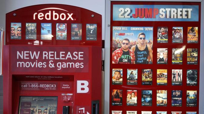 A Redbox video rental machine is seen at a Walmart in Broomfield
