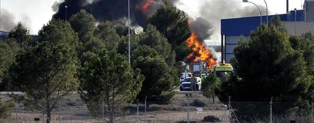 Greek F-16 jet crashes at base in Spain
