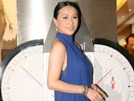 Carina Lau stopped at the airport