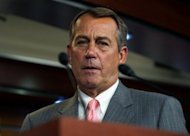 US Speaker of the House John Boehner attends a press conference June 28, on Capitol Hill. In a letter to Boehner Friday, the US Justice Department said it would not prosecute Attorney General Eric Holder over his refusal to hand over documents on a botched gun-running operation to Congress, even after the House of Representatives held him in contempt