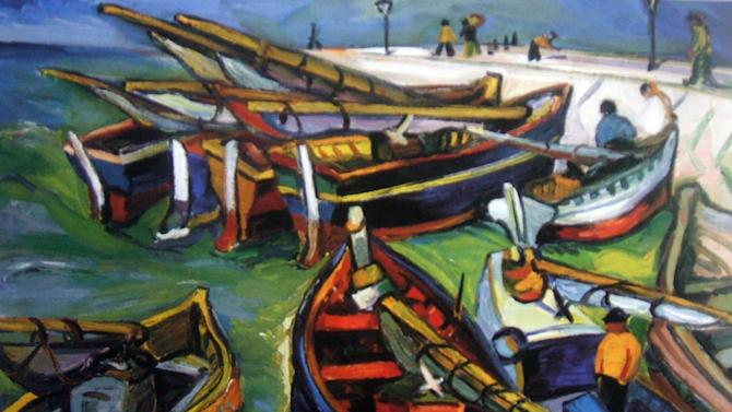 "This undated photo provided by The City of Tshwane on Monday, Nov. 12, 2012, shows a 1931 Irma Stern ""Fishing Boats"" oil on canvas. Police in South Africa said Monday that  robbers posing as visitors to an art museum stole more than $2 million worth of art including  ""fishing boats""  from an exhibit near the country's capital. (AP Photo/The City of Tshwane)"