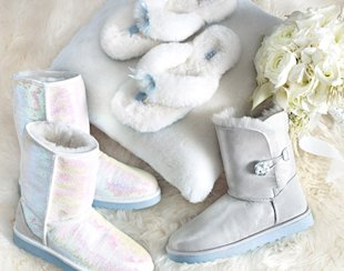 White and sparkly, wedding UGGs are being sold in the U.S. (UGGs Australia)