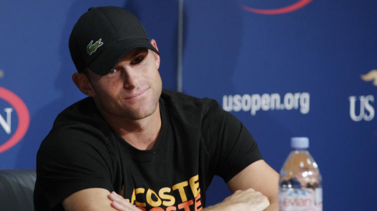 Andy Roddick speaks during a news conference during the second round of play at the 2012 US Open tennis tournament,  Thursday, Aug. 30, 2012, in New York. Roddick says the U.S. Open will be the last tournament of his career. The 2003 U.S. Open champion and former No. 1 announced his plans to retire at a news conference Thursday, his 30th birthday.(AP Photo/Frank Franklin II)