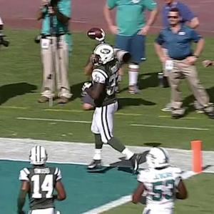 New York Jets running back Chris Ivory 8-yard touchdown reception