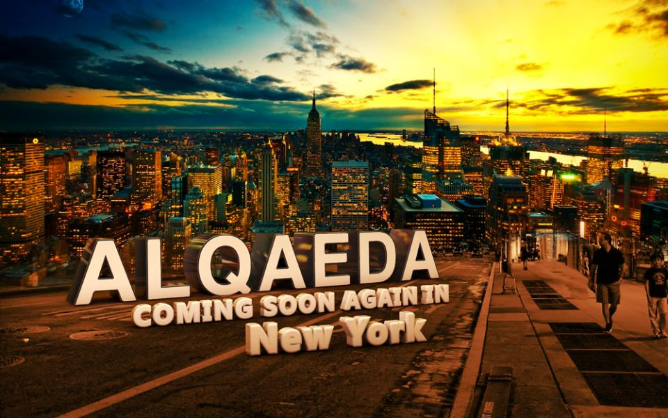 This image provided by the New York Police Department shows a graphic found on al Qaida Internet forum currently being investigated by police as a terrorist threat. Authorities are trying to identify the source. (AP Photo/NYPD)