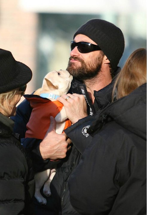 Jackman Hugh With Kids Ang Dog