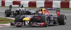 Red Bull Formula One driver Vettel of Germany drives during second practice session of Canadian F1 Grand Prix at the Circuit Gilles Villeneuve in Montreal